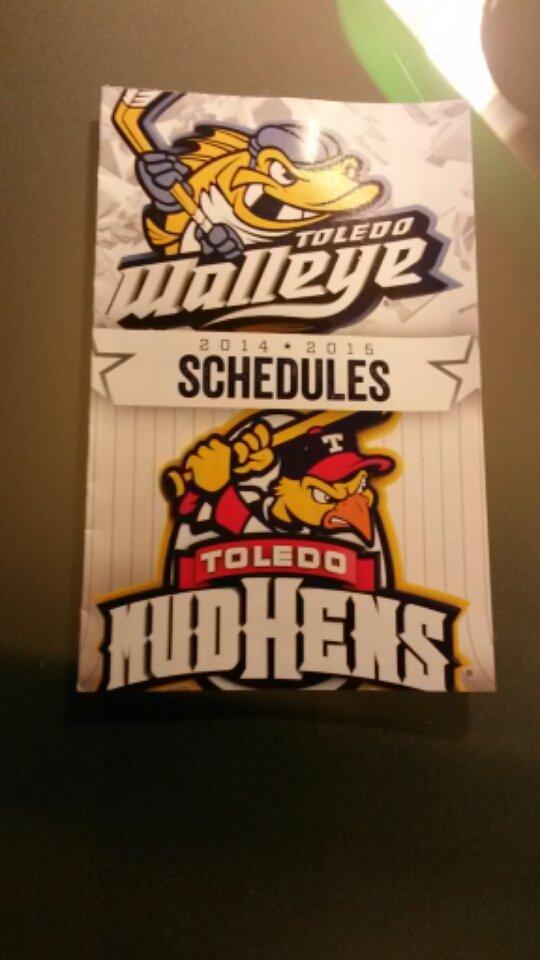 2014 / 2015 Toledo Walleye Mudhens Pocket Schedule