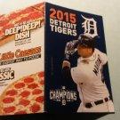 2015 Detroit Tigers Pocket Schedule Victor Martinez Little Caesars