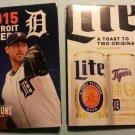 2015 Detroit Tigers Pocket Schedule Justin Verlander Mller Lite