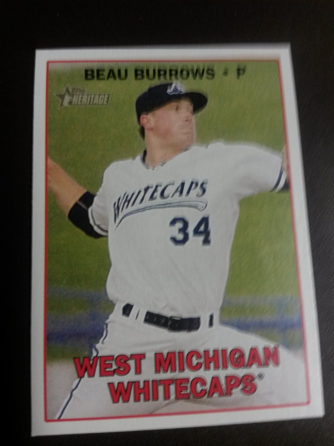 2016 Topps Heritage Minor League Beau Burrows Detroit Tigers # 44 Rookie