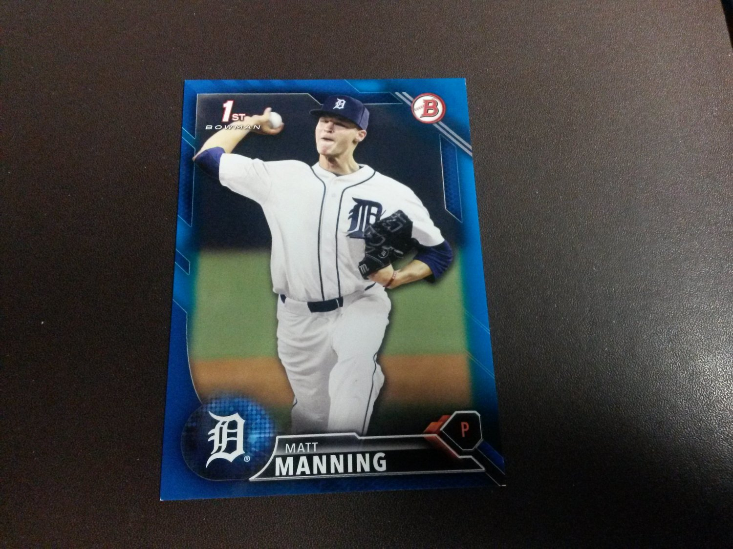 2016 Bowman Draft Blue Matt Manning Detroit Tigers # BD-30 #D 150/150 Rookie
