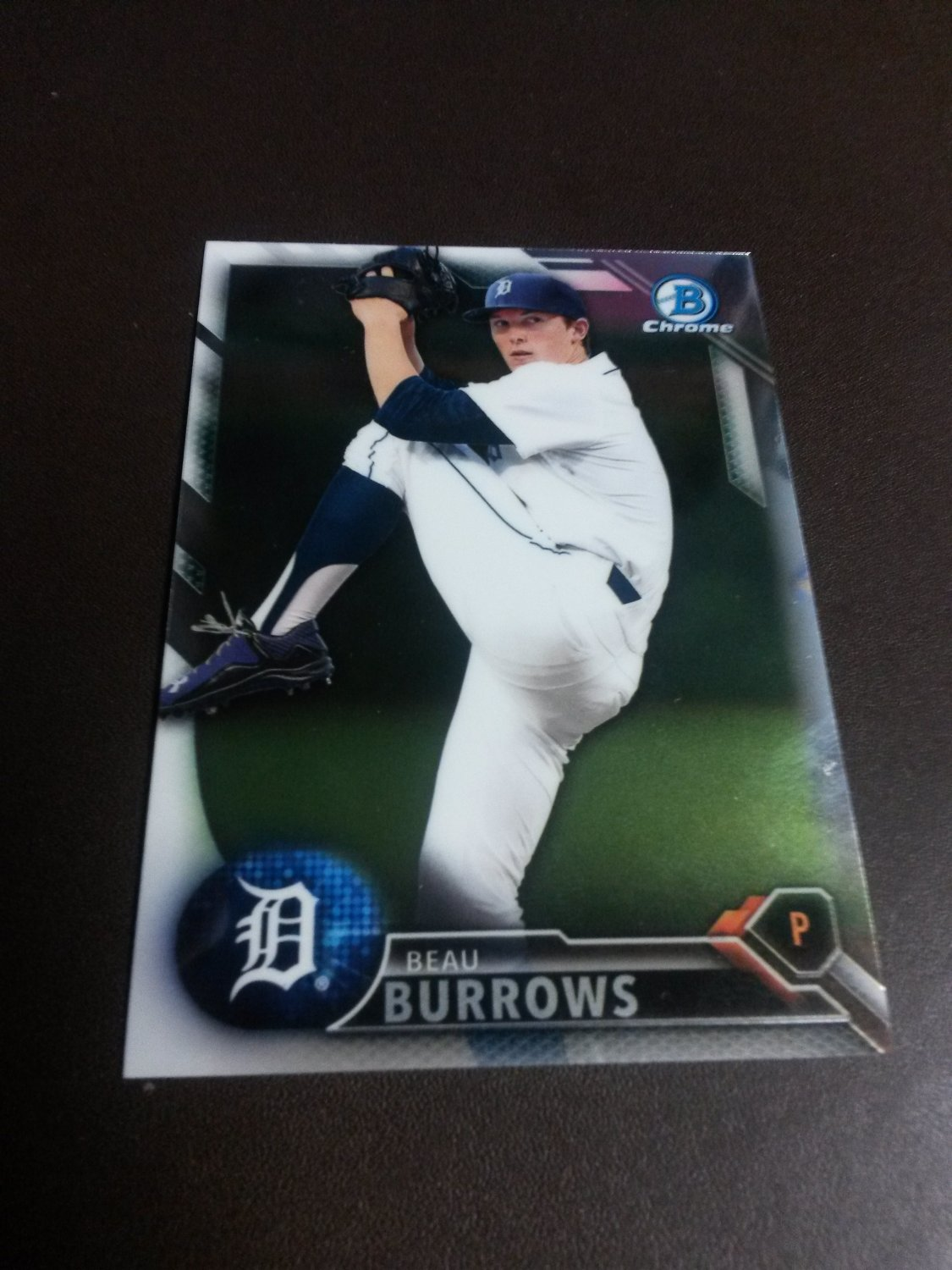 2016 Bowman Chrome Beau Burrows Detroit Tigers # BCP76