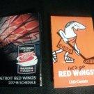 2017 2018 Detroit Red Wings Pocket Schedule Inaugural Season Little Caesars Arena