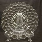 Anchor Hocking Glass Crystal Bubble Dinner Plate
