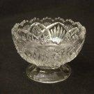 EAPG Bryce Higbee Glass 1905 Arrowhead in Oval Footed Sherbet