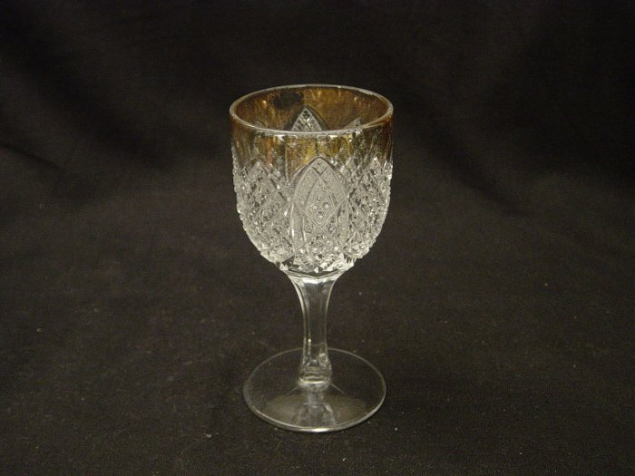 EAPG Duncan & Miller Glass 1896 Scalloped Six Points Cordial