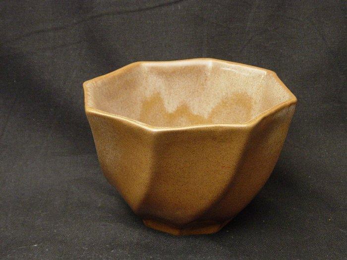 Frankoma Pottery Brown Satin Spiral Flower Pot / Planter P178