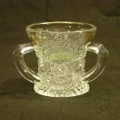 EAPG U.S. Glass 1908 Rising Sun (Sunrise) Gold and Green Stain Toothpick Holder