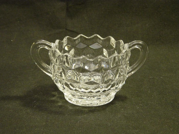 Fostoria American Pattern Crystal Open Sugar Bowl