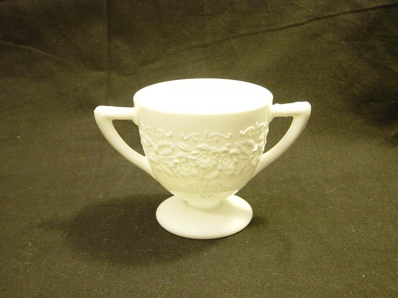 Indiana Milk Glass Orange Blossom Sugar Bowl
