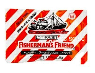 Mandarin & Ginger Sugar Free Lofthouse Fisherman's Friend x 4 Packs