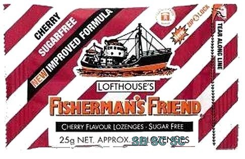 Cherry Sugar Free Lofthouse Fisherman's Friend x 4 Packs