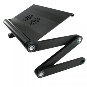 Portable Adjustable Laptop Desk with USB Cooling Fan