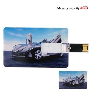 Assorted Cars Credit Card Style Flash Drive (4GB)