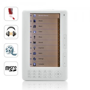 7� eBook Reader and Media Player, White