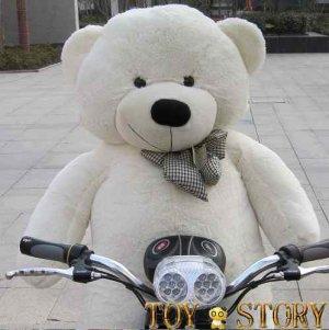 teddy bear  &free shipping&1.2m&white