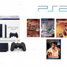 "Slim Sony Playstation 2 ""Holiday Pack"" - 4 Games and DVD Movie"