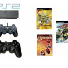 "New Slim Sony Playstation 2 ""Value Pack"" - 5 Games + 2 Controllers"