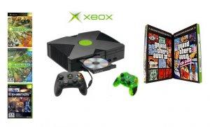 "Xbox ""GTA Bundle""- 5 Games & 2 Controllers"