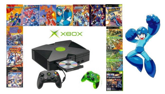 "Xbox ""Mega Man"" Bundle - 13 Games and 2 Controllers"