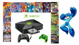 "Xbox ""Mega Man"" Bundle - 13 Games and 2 Controllers"