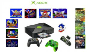 """Xbox """"Sonic The Hedgehog"""" Bundle - 10 Games, 2 Controllers + DVD Kit"""