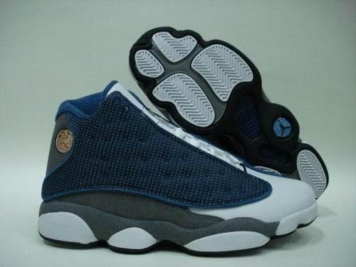 Blue Grey and White Air Jordan XIII