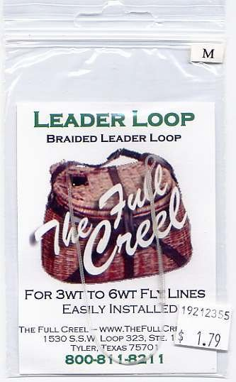 One Slip-On Clear Leader Loop - For 3wt to 6wt Fly Line