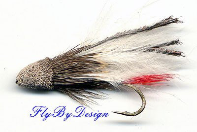 White Marabou Muddler Minnow Fly, Twelve Size 4 Flies