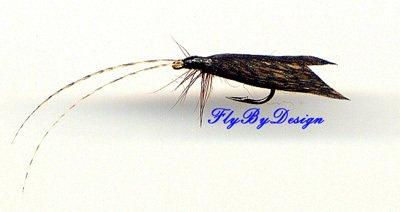 Sedge Cinnamon Caddis Dry Flies - Twelve Hook Size 14