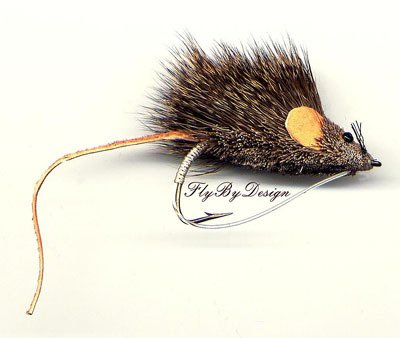 Mouse Rat Fly Fishing Fly- Six Hook Size 2/0 Bass Flies