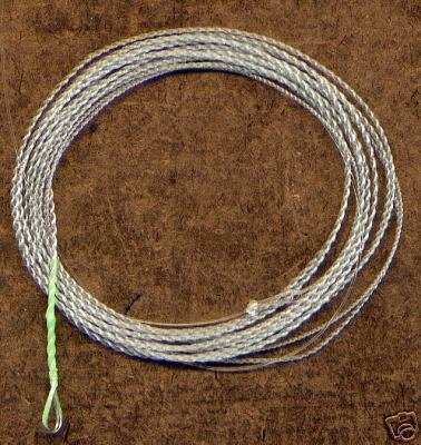 Furled 7 1/2' 8# Green Fluorocarbon Leader + Ring 5-7wt