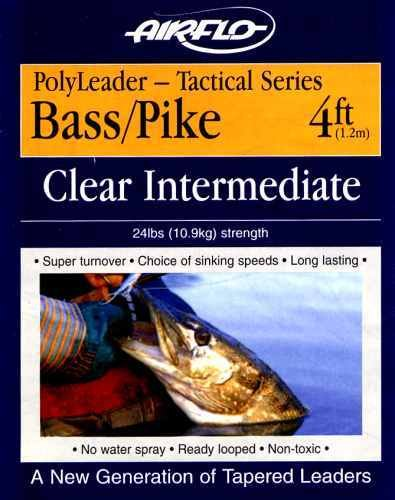Airflo 4Ft Bass/Pike Tapered Clear Floating Leader