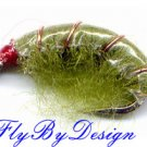 Olive Scud Fly Fishing Nymphs - Twelve Flies Size 14