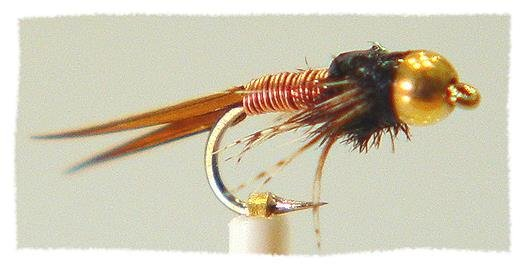 Copper John Nymph Fly Fishing Flies - One Dozen Size 14