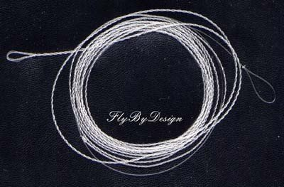 Furled 8# Test Clear Fluorocarbon Fly Leader 5-7 wt Rod