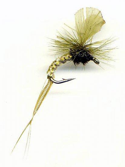Olive Woven Klinkhamer EMERGER Flies - Twelve Size 12
