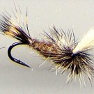 Hares Ear Parachute Dry Fly - Twelve Hook Size 20 Flies