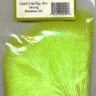 Premium 1 oz size Dyed Chartreuse Green Strung Marabou