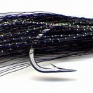 Clouser Black Minnow Fly 12 Fly Fishing Flies - Size 6