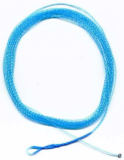 Furled 7.5' Electric Blue Cold Weather 6# Leader + RING