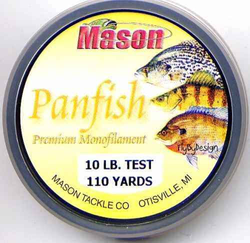 Mason Premium 10 Lb Monofilament Panfish Fishing Line