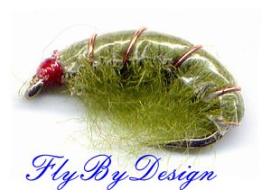 Olive Scud Fly Fishing Nymphs - Twelve Flies Size 12