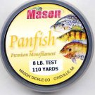 Mason Premium 8 Lb Monofilament Panfish Fishing Line