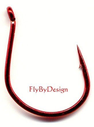 Gamakatsu Bleeding Red Size 4 Wide Gap Fishing Hooks