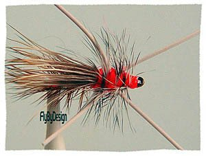 Golden Rubber Leg Stimulator  Dry Flies Twelve size 14