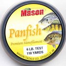 Mason Premium 6 Lb Monofilament Panfish Fishing Line