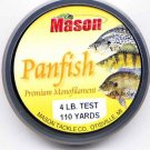 Mason Premium 4 Lb Monofilament Panfish Fishing Line
