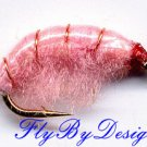 Pink Scud Fly Fishing Nymphs Twelve Flies, Hook Size 16