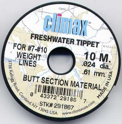 Climax Butt Section Tippet Material For 7-10 wt Lines